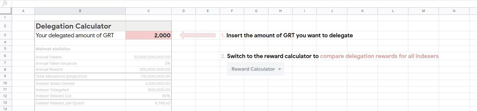 Calculate your rewards