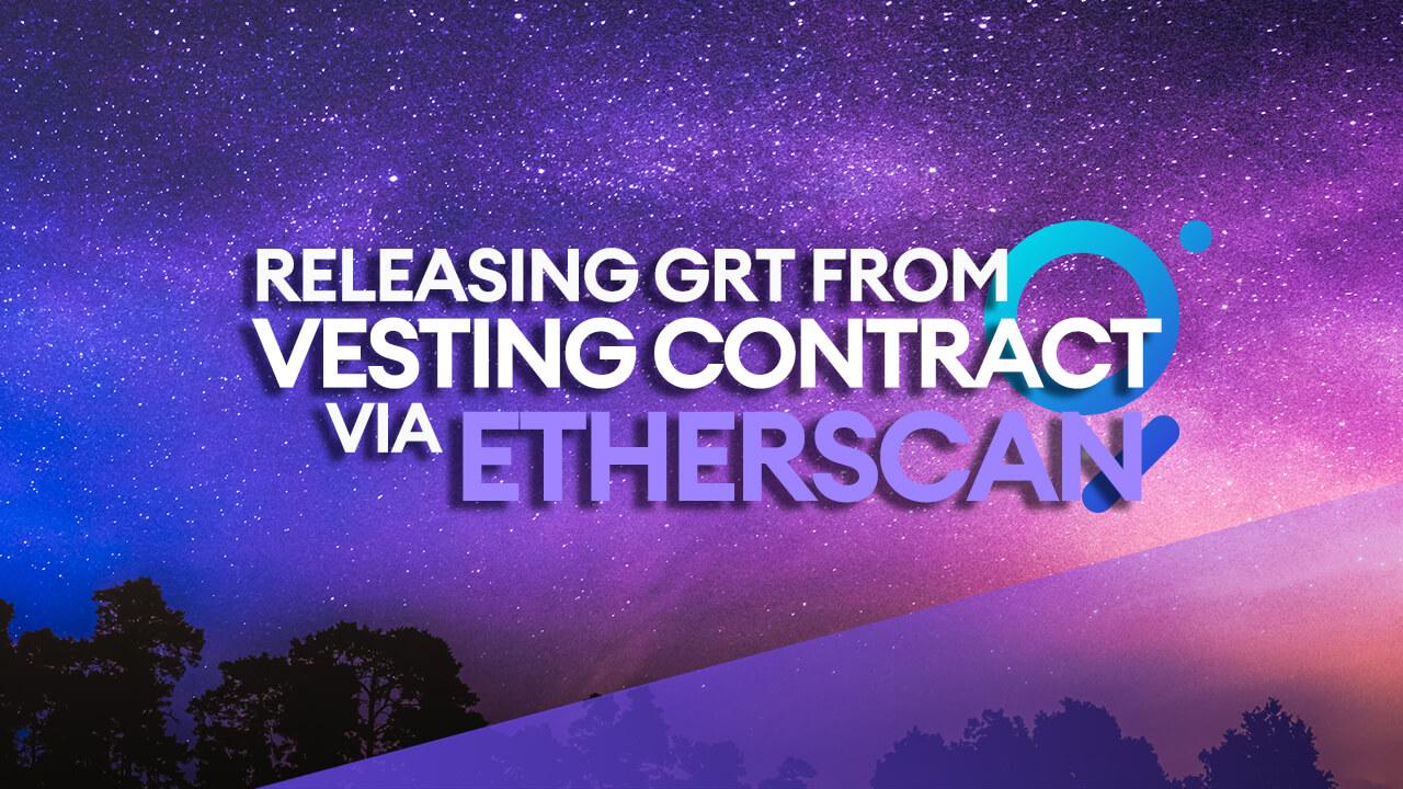 Releasing Unlocked GRT Tokens
